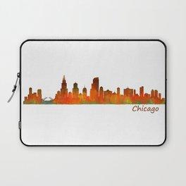 Chicago City Skyline Hq v1 Laptop Sleeve