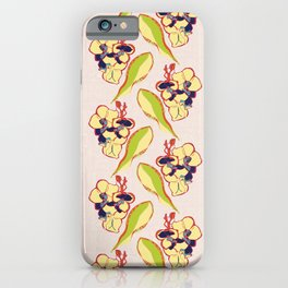 Orchid Vintage Print, 1940s Polynesian Light Pink Floral iPhone Case