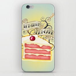 Let Them Eat Cake Vintage Tattoo Style iPhone Skin