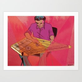 Kanun Player Art Print
