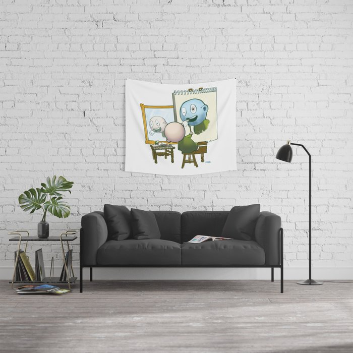Baby Norman Zombiewell Wall Tapestry