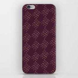 Burgundy checkered pattern iPhone Skin