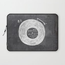 you are what you listen to, BLACK Laptop Sleeve