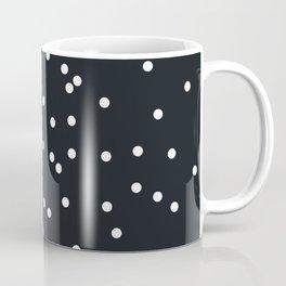 Falling white dots on black Coffee Mug