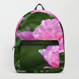 Pink Peony Pair Flower Photography - Bring the Outdoors In Backpack
