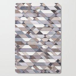 Triangle Pattern no.22 grays Cutting Board