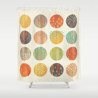 celestial Shower Curtains featuring CELESTIAL BODIES by Daisy Beatrice