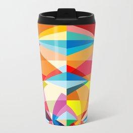 C13D Radial Geometric Metal Travel Mug