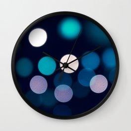 Abstract city lights Wall Clock