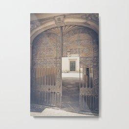 Door in Door Lucca italy tuscany Metal Print