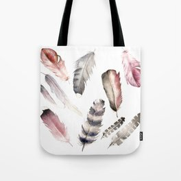 Feathers pink Tote Bag