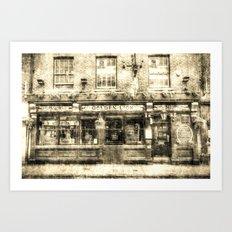 The Golden Lion Pub York Vintage Art Print