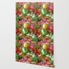Multi-Colored Striped Candy Wallpaper