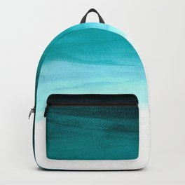 Ombre background in turquoise Backpack