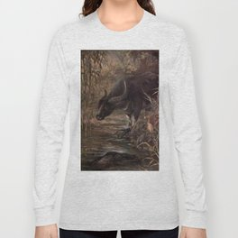 Vintage Water Buffalo Painting (1909) Long Sleeve T-shirt
