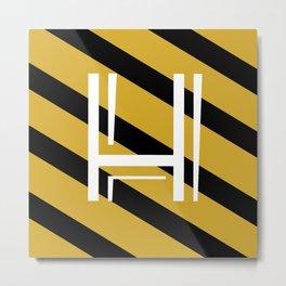 MINIMALISTIC HP HOUSES | HUFFLEPUFF Metal Print