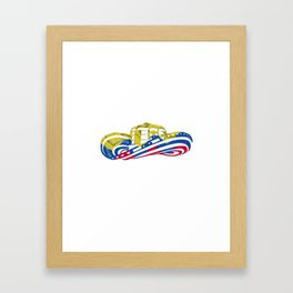 Colombian Sombrero Vueltiao in Colombian Flag Colors Framed Art Print