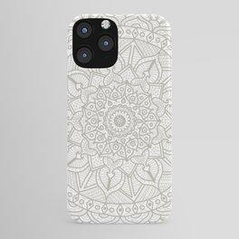Gray Circle of Life Mandala on White iPhone Case