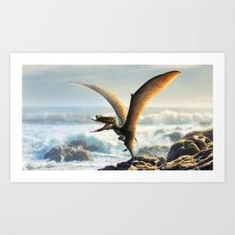 Dsungaripterus Weii Restored Art Print
