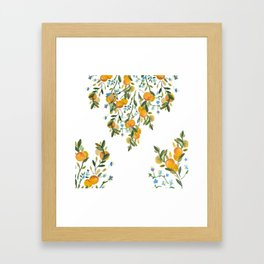 A Bit of Spring and Sushine Trailing Oranges Framed Art Print