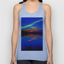 North light over a lake Unisex Tank Top