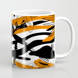 Floral Tiger Animal Print Coffee Mug