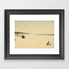 beach play Framed Art Print