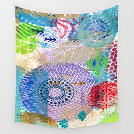 Patchwork of prints Wall Tapestry