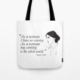 Virginia Woolf Feminist Quote Tote Bag