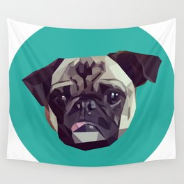 "Pug Graphic Design. ""Bijou"" Wall Tapestry"