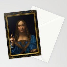 Leonardo da Vinci - Salvator Mundi - Digital Restored Edition Stationery Cards