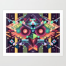 BirdMask Visuals - Buzzard Art Print