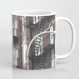 New York City corners, fire escapes, ladders fine art , nyc, America, photo Coffee Mug