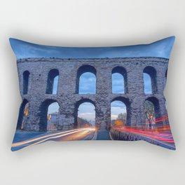 Racing The Aqueduct Rectangular Pillow