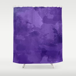 amethyst watercolor abstract Shower Curtain