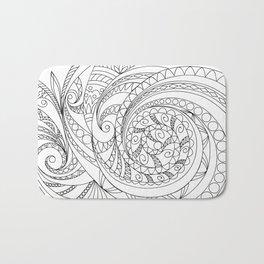 abstract zen tangled pattern swirl Bath Mat