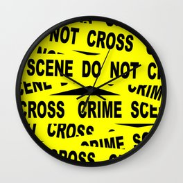 Crime Scene Tape Wall Clock
