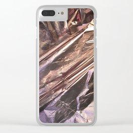 Rose Gold Foil Clear iPhone Case