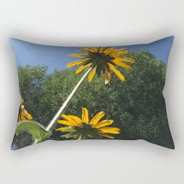 Black-Eyed Susans, autumn yellow flowers, blue sky Rectangular Pillow