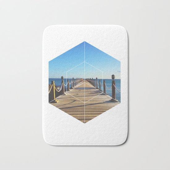 Ocean Walk - Geometric Photography Bath Mat