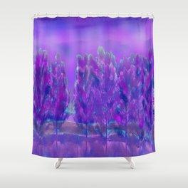 Violet Forest Shower Curtain