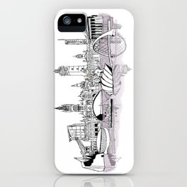 Glasgow City Skyline iPhone Case