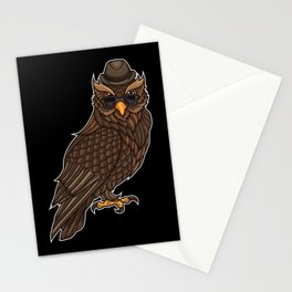 Cool Owl With A Hat | Night Active In The Clubs. Stationery Cards