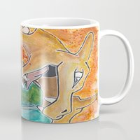 charizard Mugs featuring Charizard by Luke Jonathon Fielding