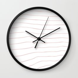 Striped Lines Pink Wall Clock