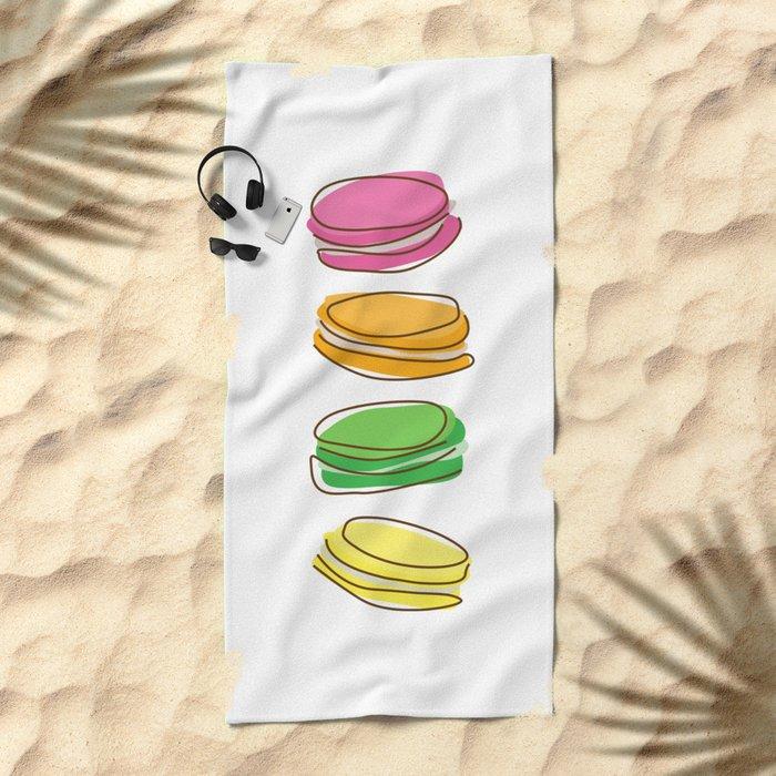Macaroons Beach Towel