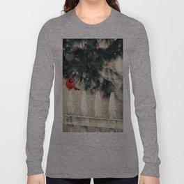 Snowy Day Cardinal Long Sleeve T-shirt