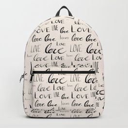 Words of Love // Antique White Backpack