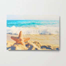 Seaside Beach Metal Print