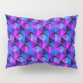 Blue and Purple Triangles Geometric Pattern Pillow Sham